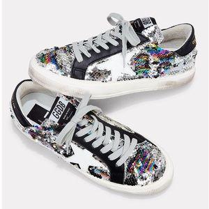 Shoes - Golden Goose Rainbow Sequin Low-Top Sneakers NWOT